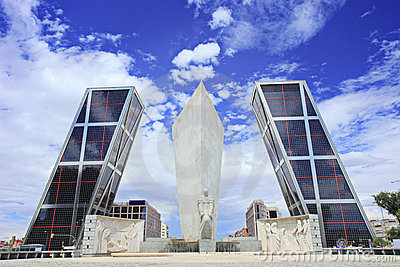 Leaning towers of Madrid (Puerta de Europa)