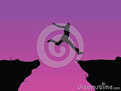 Leap of faith vector