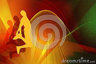Leap - multicolour background