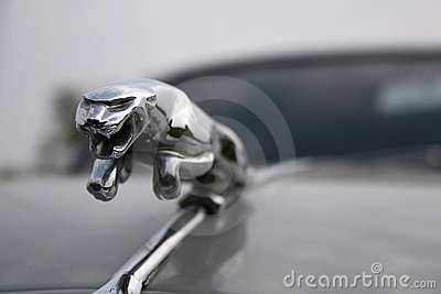 Leaping Jaguar – symbol of British sports car Editorial Stock Image