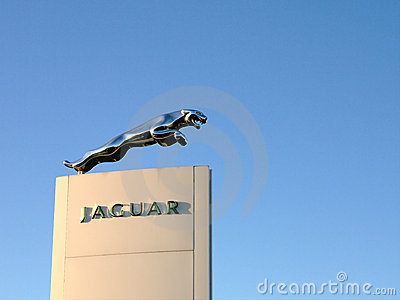 Leaping Jaguar Emblem Editorial Photography