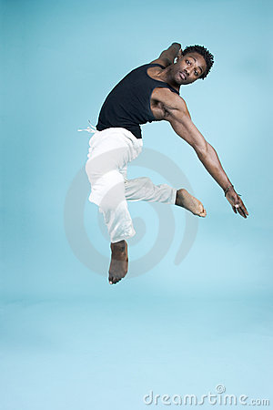 Free Leaping Through The Air Stock Image - 756261