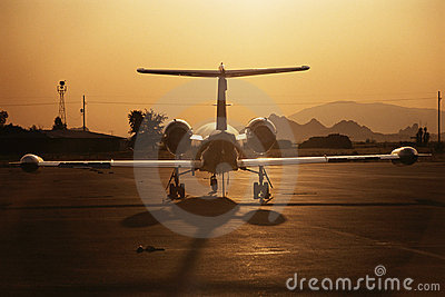 Lear Jet on Tarmac
