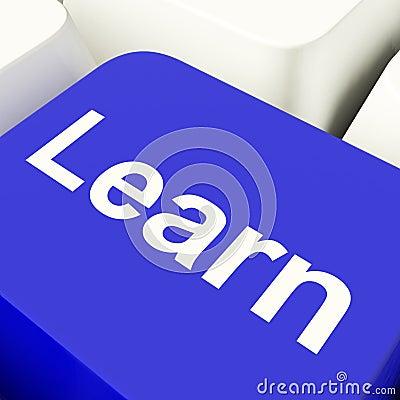 Learn Computer Key In Blue