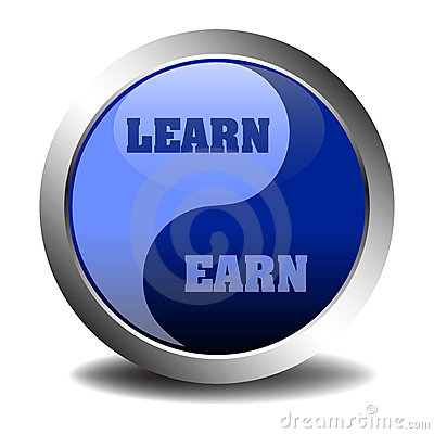 Learn and earn symbol
