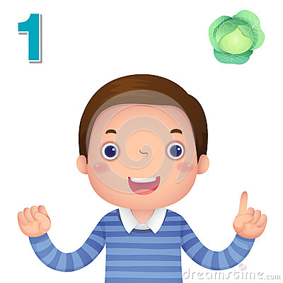 Free Learn Number And Counting With Kid's Hand Showing The Number O Royalty Free Stock Image - 57795226