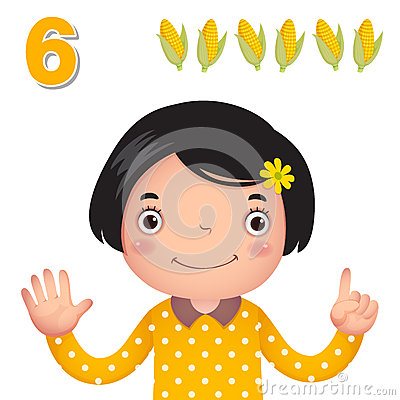 Free Learn Number And Counting With Kid's Hand Showing The Number S Royalty Free Stock Image - 57810546