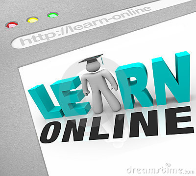 Free Learn Online - Web Screen Stock Image - 14486041
