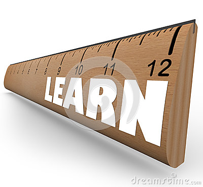 Learn Word on Ruler Measure Education Progress Growth