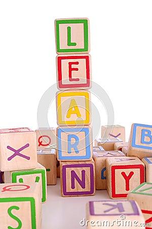 Free Learning Blocks Royalty Free Stock Photos - 1213968