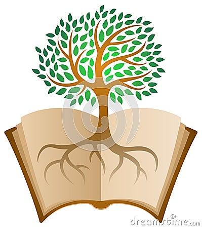 Learning book tree logo Vector Illustration