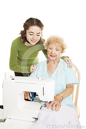Learning to Sew From Grandmother