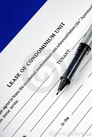 Lease of condominium unit