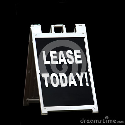 Lease Today Sign