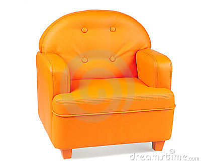 Leather Armchair Of Orange Color Royalty Free Stock Photos Image 12428118