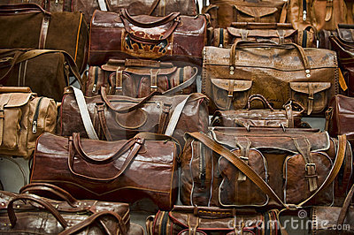 Leather Bags Stock Photo - Image: 45260815