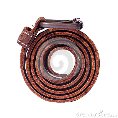 Isolated Leather Belt