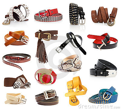 Free Leather Belts Royalty Free Stock Photo - 19195705