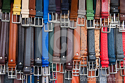 Leather Belts Royalty Free Stock Image - Image: 28146836