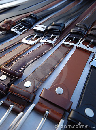 Free Leather Belts Stock Image - 3984791