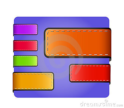 Leather blank colorful tags and labels