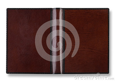 Leather book cover with spin