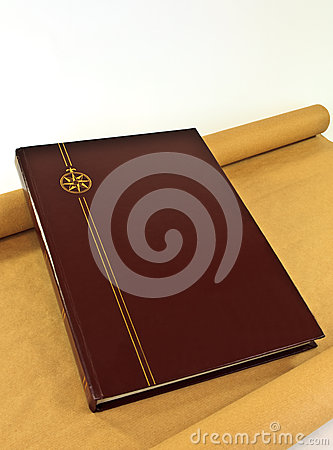 Leather Book with Gold Crest