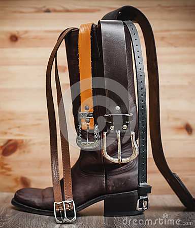 Free Leather Boots And Belts Stock Photos - 85348833