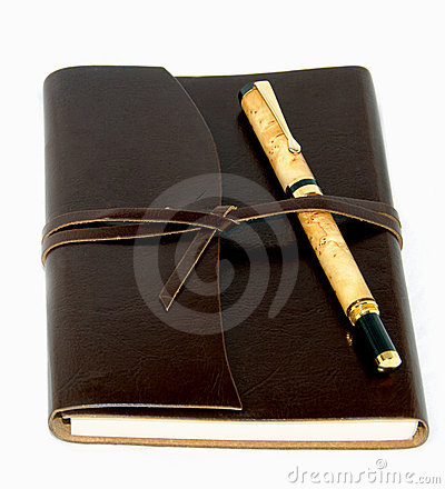 Leather Bound Journal and Pen