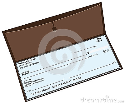 Leather checkbook