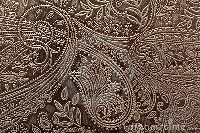 Leather floral pattern background