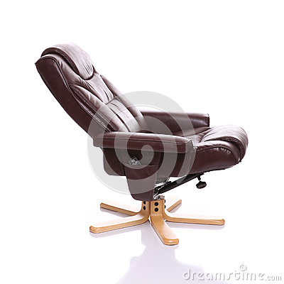 Leather heated recliner chair