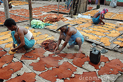 Leather industry of Kolkata Editorial Image