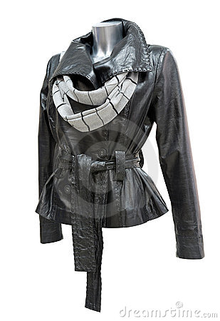 Free Leather Ladies Jacket Royalty Free Stock Image - 15333846