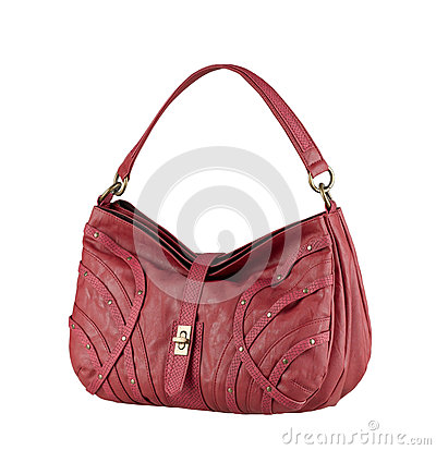 Leather lady handbag