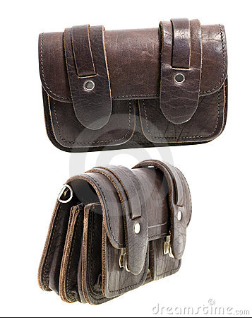 Free Leather Man Purse (isolated) Stock Photography - 21237282