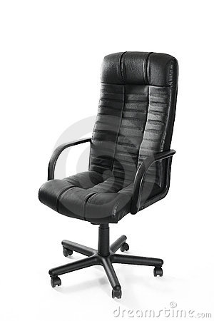 Leather office swivel chair