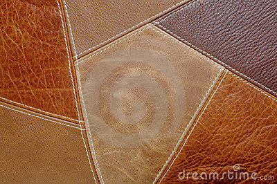 Leather Patches Background