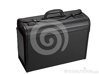 Leather representative suitcase