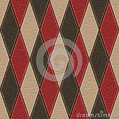 Leather rhombus