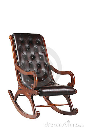 Leather Rocking Chair Stock Image - Image: 11438511