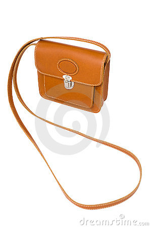 Leather sling handbag