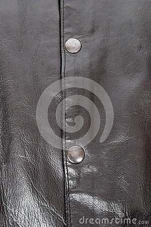 Leather with snaps