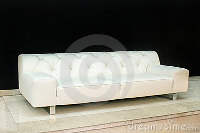Leather sofa angle