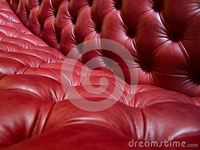 Leather sofa detail