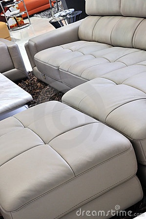 Leather sofa and interior