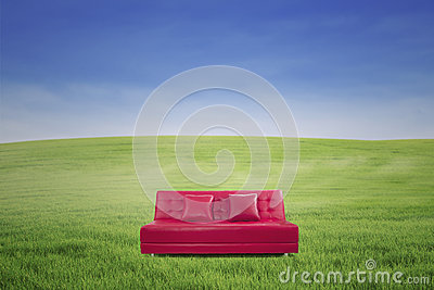 Leather sofa outdoor