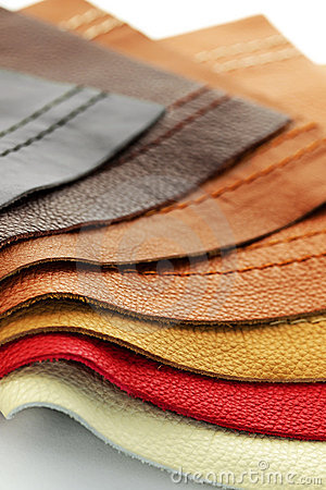 Leather upholstery samples