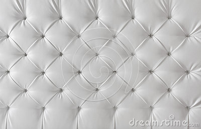 Leather upholstery white texture, pattern background
