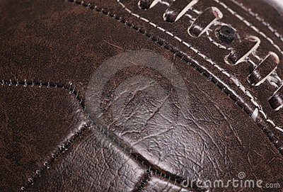 Leather vintage football background